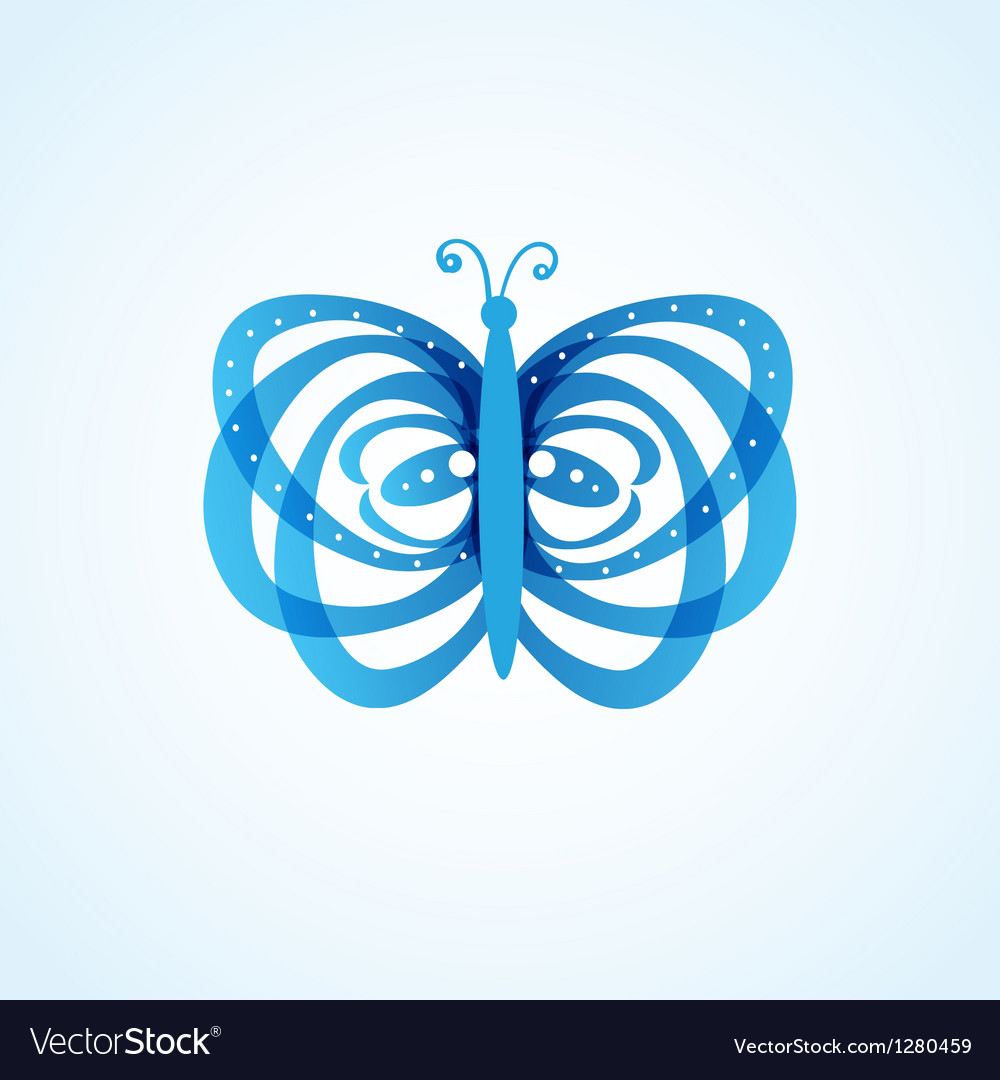 Butterfly isolated on white background vector | Price: 1 Credit (USD $1)