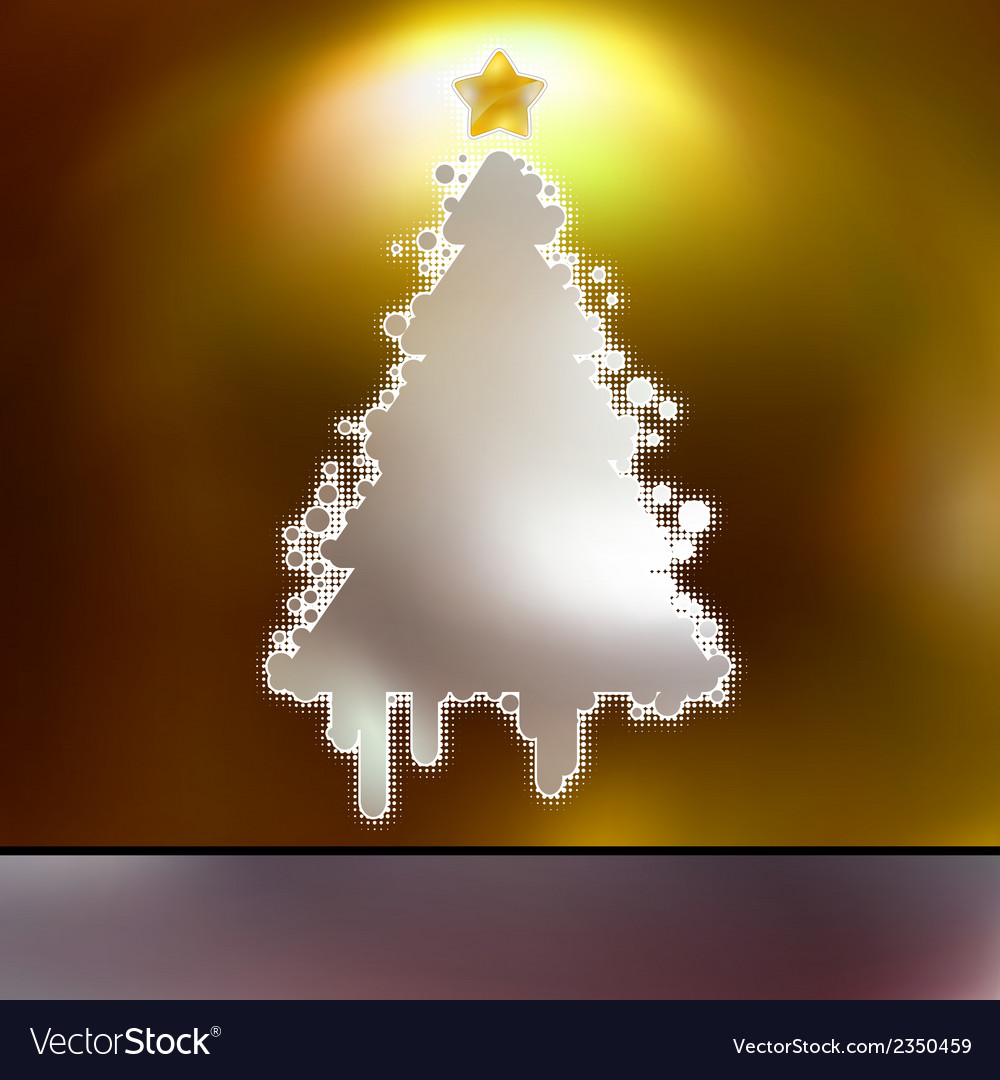 Christmas tree on gold card eps 8 vector | Price: 1 Credit (USD $1)