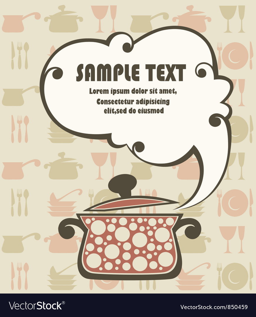 Cook book funny background vector | Price: 1 Credit (USD $1)