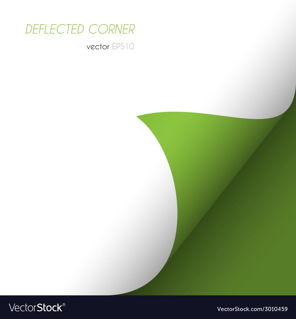 Deflected corner vector | Price: 1 Credit (USD $1)