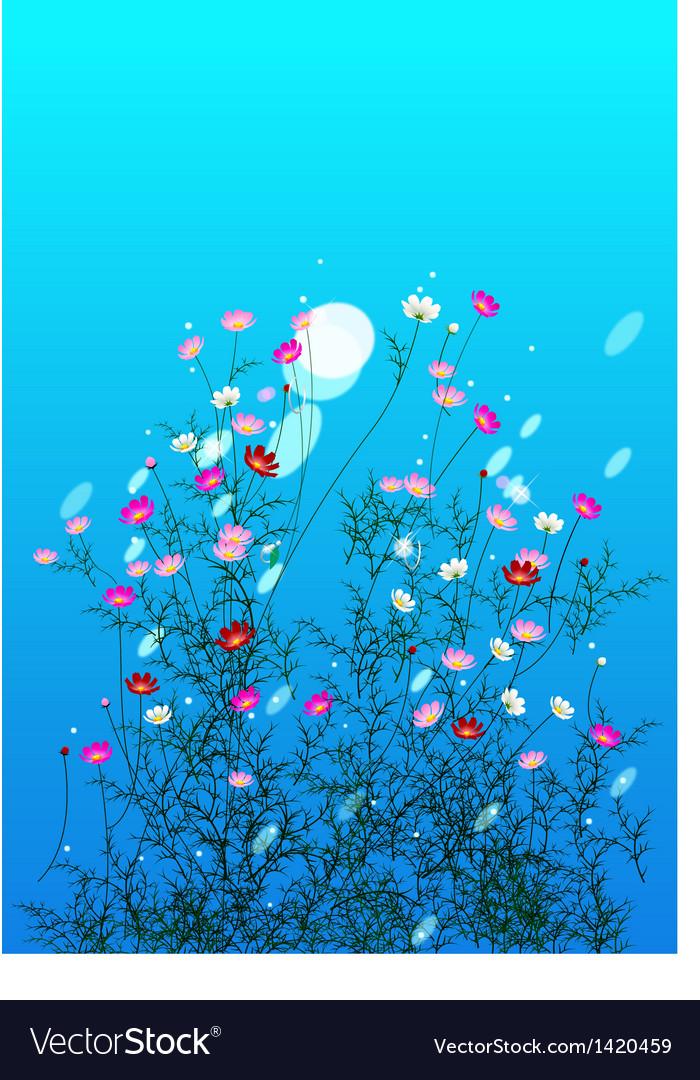 Flowers bush vector | Price: 1 Credit (USD $1)