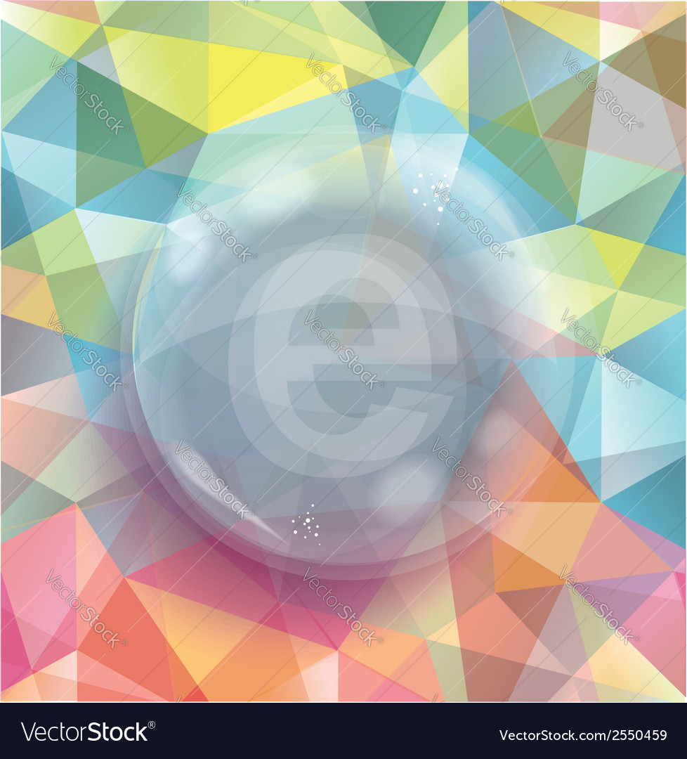 Glass bubble on abstract geometric 3d background vector | Price: 1 Credit (USD $1)