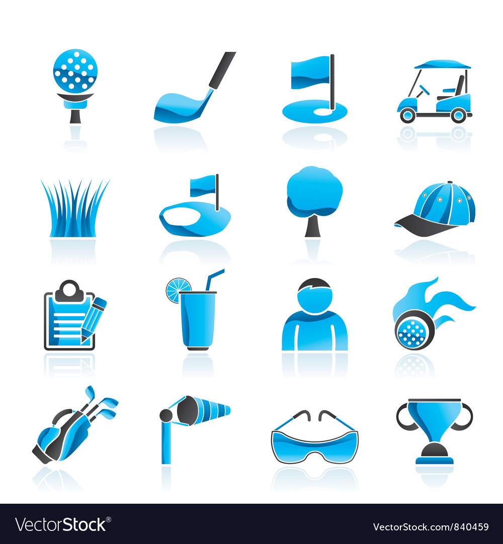 Golf and sport icons vector | Price: 1 Credit (USD $1)