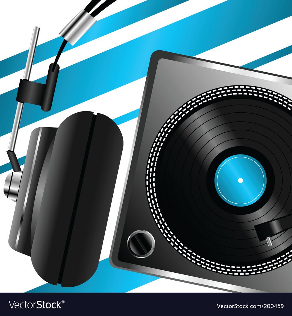Headphones musical theme vector | Price: 1 Credit (USD $1)