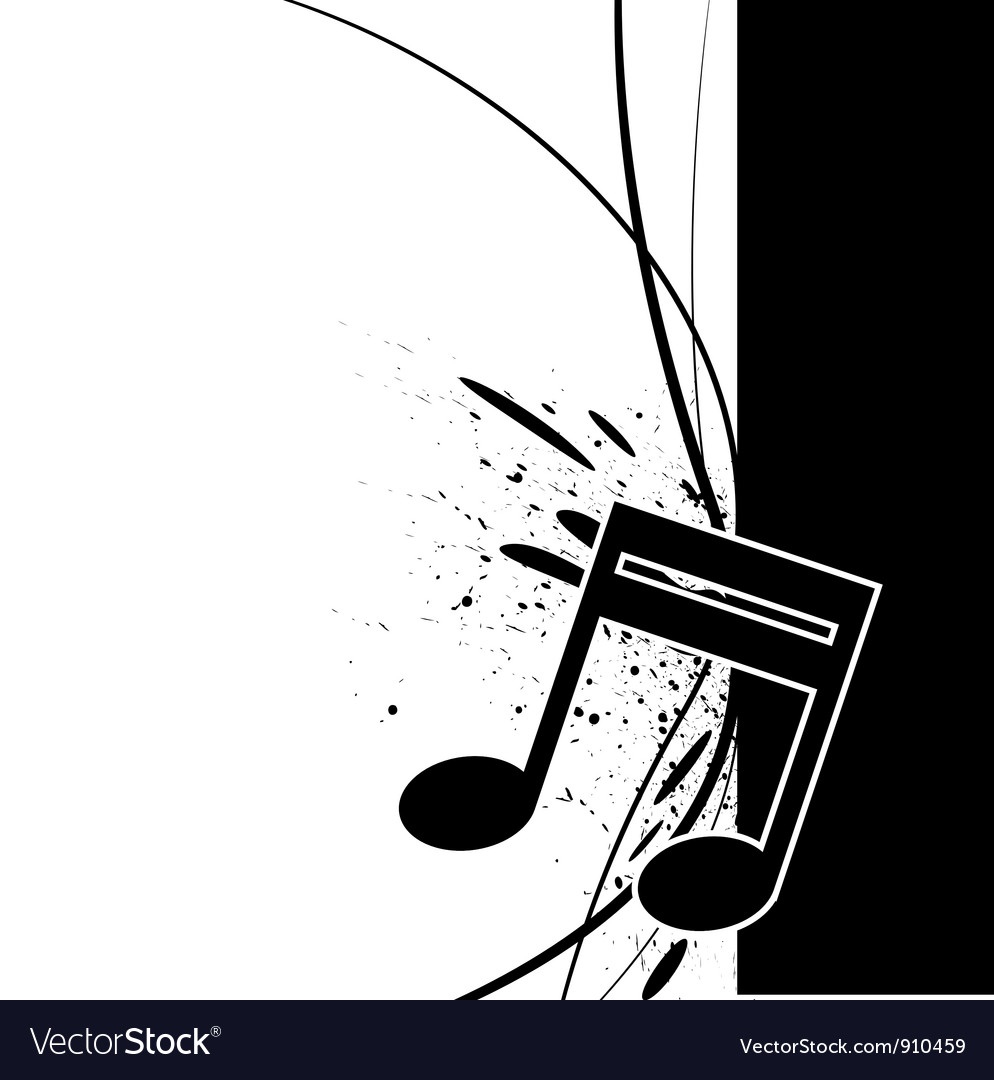 Music note with ink splatter vector | Price: 1 Credit (USD $1)