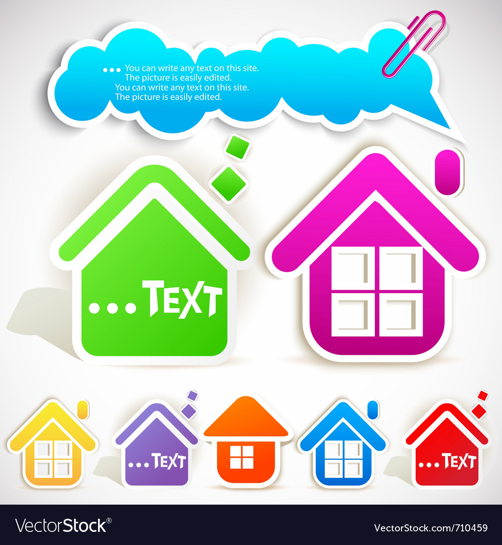 Paper home vector | Price: 1 Credit (USD $1)