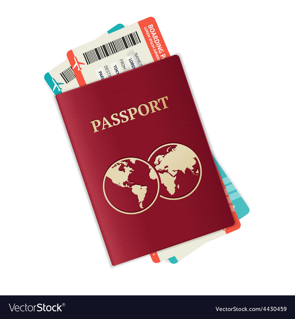 Passport with tickets vector | Price: 1 Credit (USD $1)