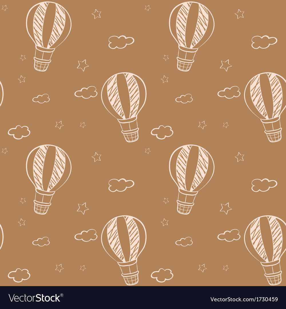 Seamless design of floating balloons vector | Price: 1 Credit (USD $1)