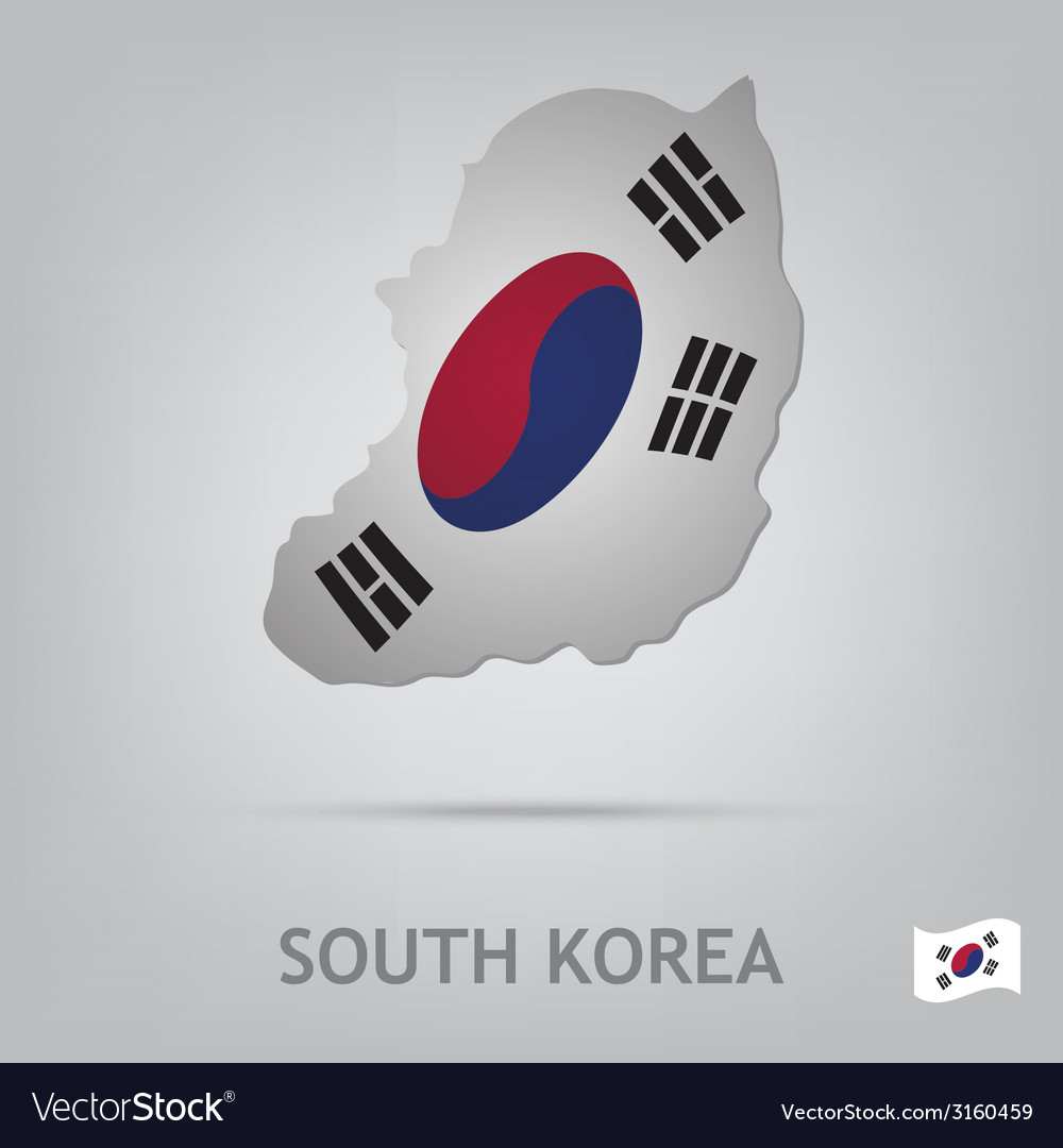 South korea vector | Price: 1 Credit (USD $1)