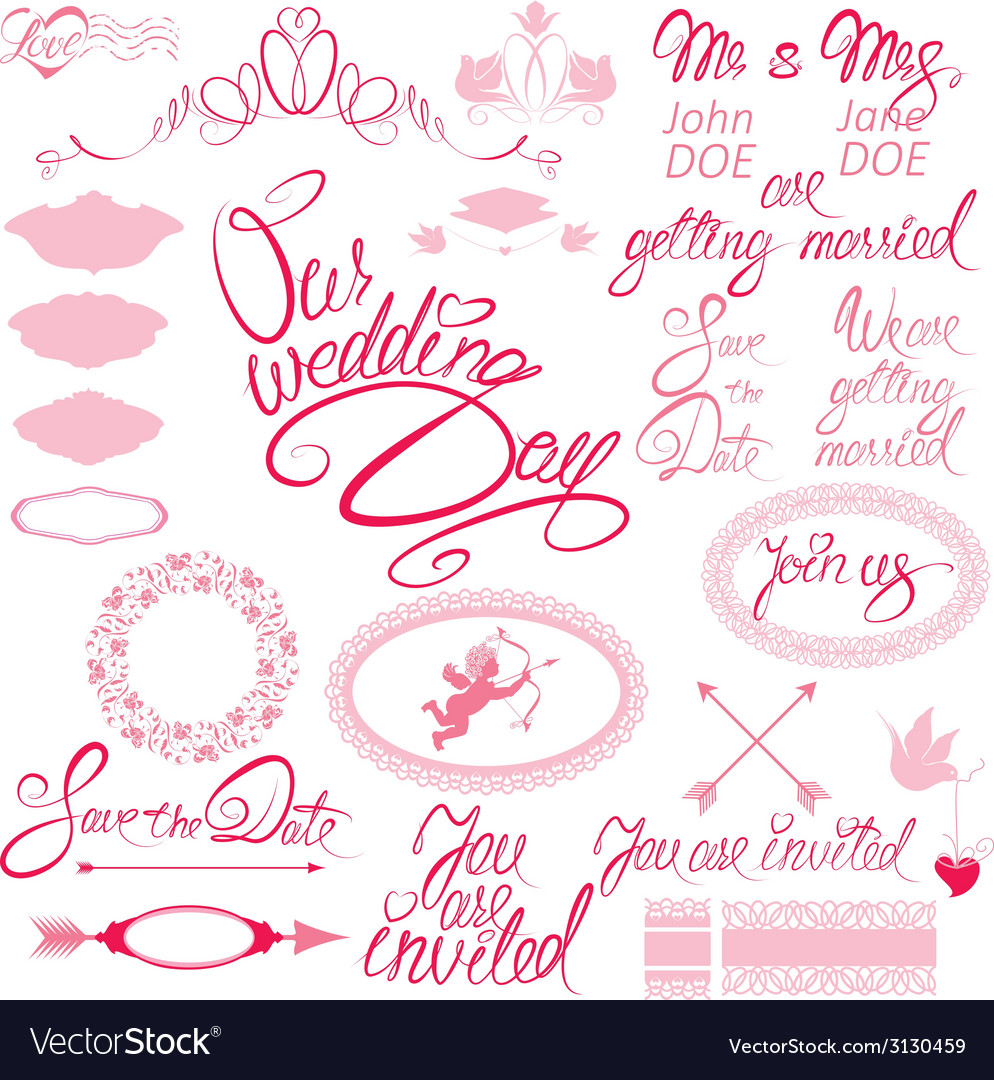 Wed calligraphy 380 vector | Price: 1 Credit (USD $1)