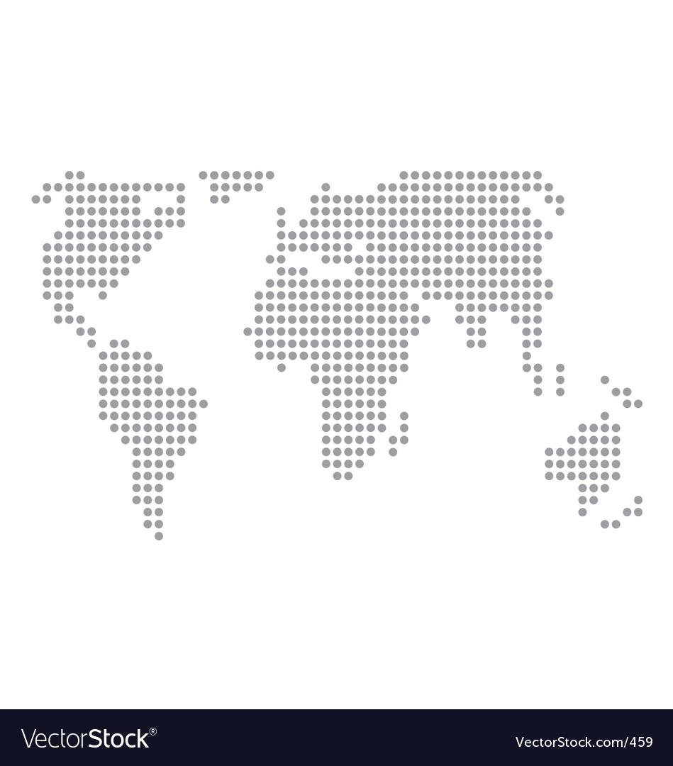 World map basic dots vector | Price: 1 Credit (USD $1)