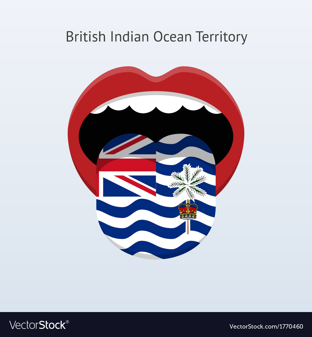 British indian ocean territory language vector | Price: 1 Credit (USD $1)