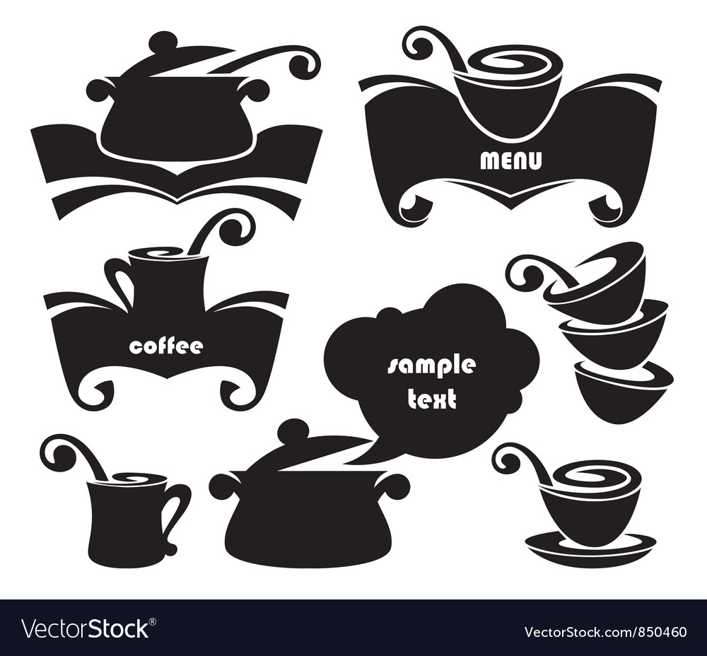 Cook equipment silhouettes vector | Price: 1 Credit (USD $1)