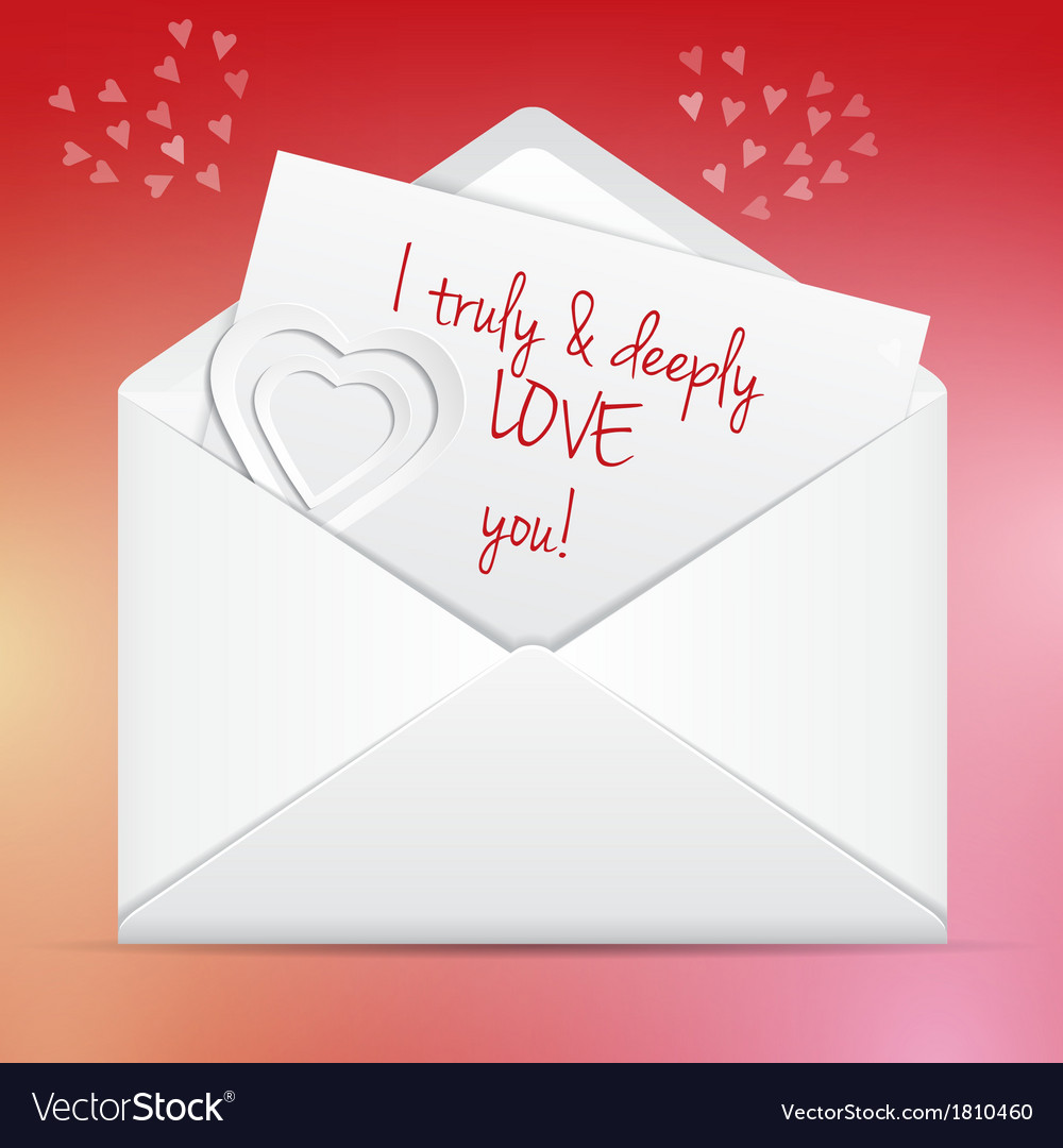 Love letter in envelope vector | Price: 1 Credit (USD $1)