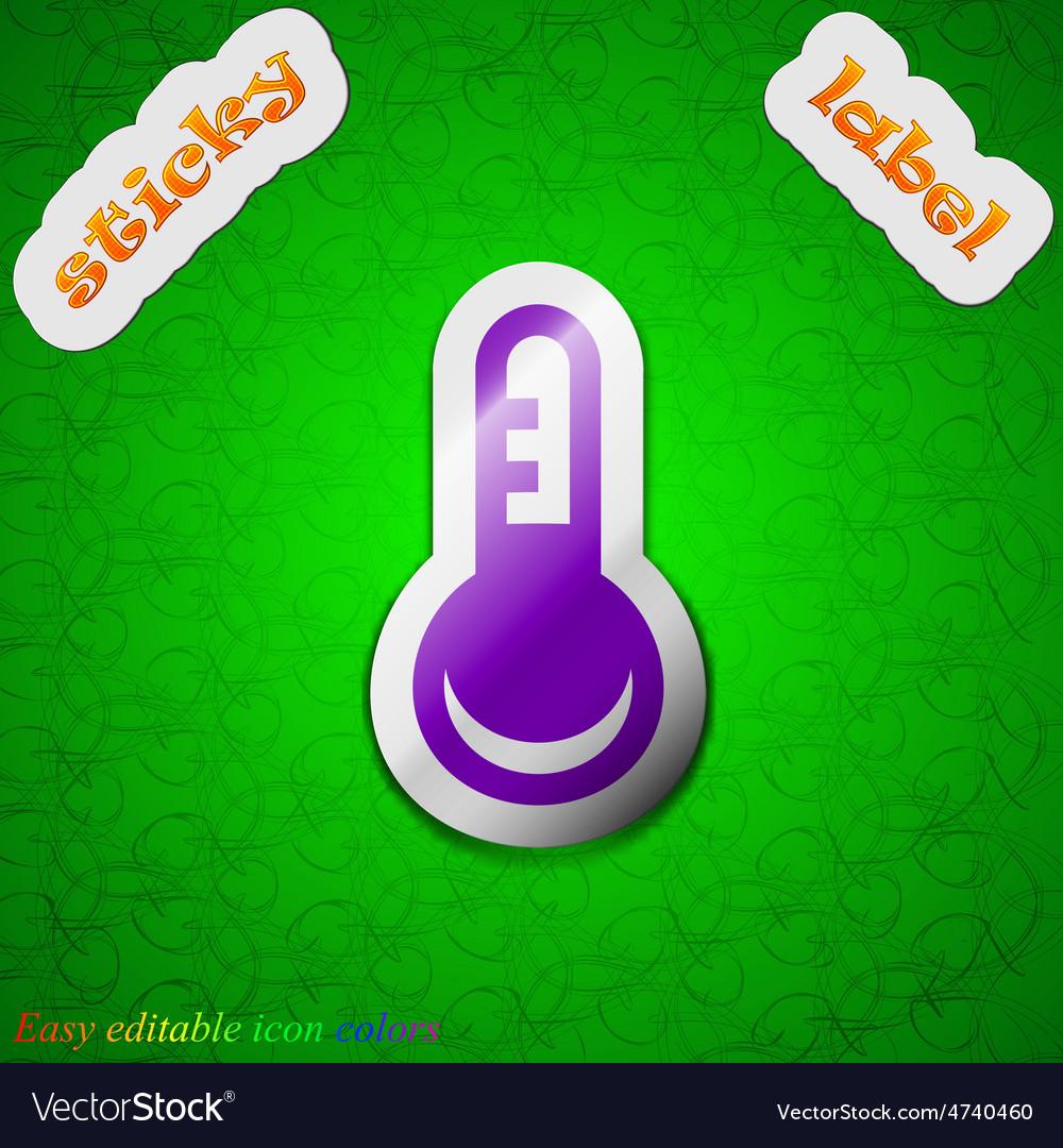 Thermometer temperature icon sign symbol chic vector | Price: 1 Credit (USD $1)
