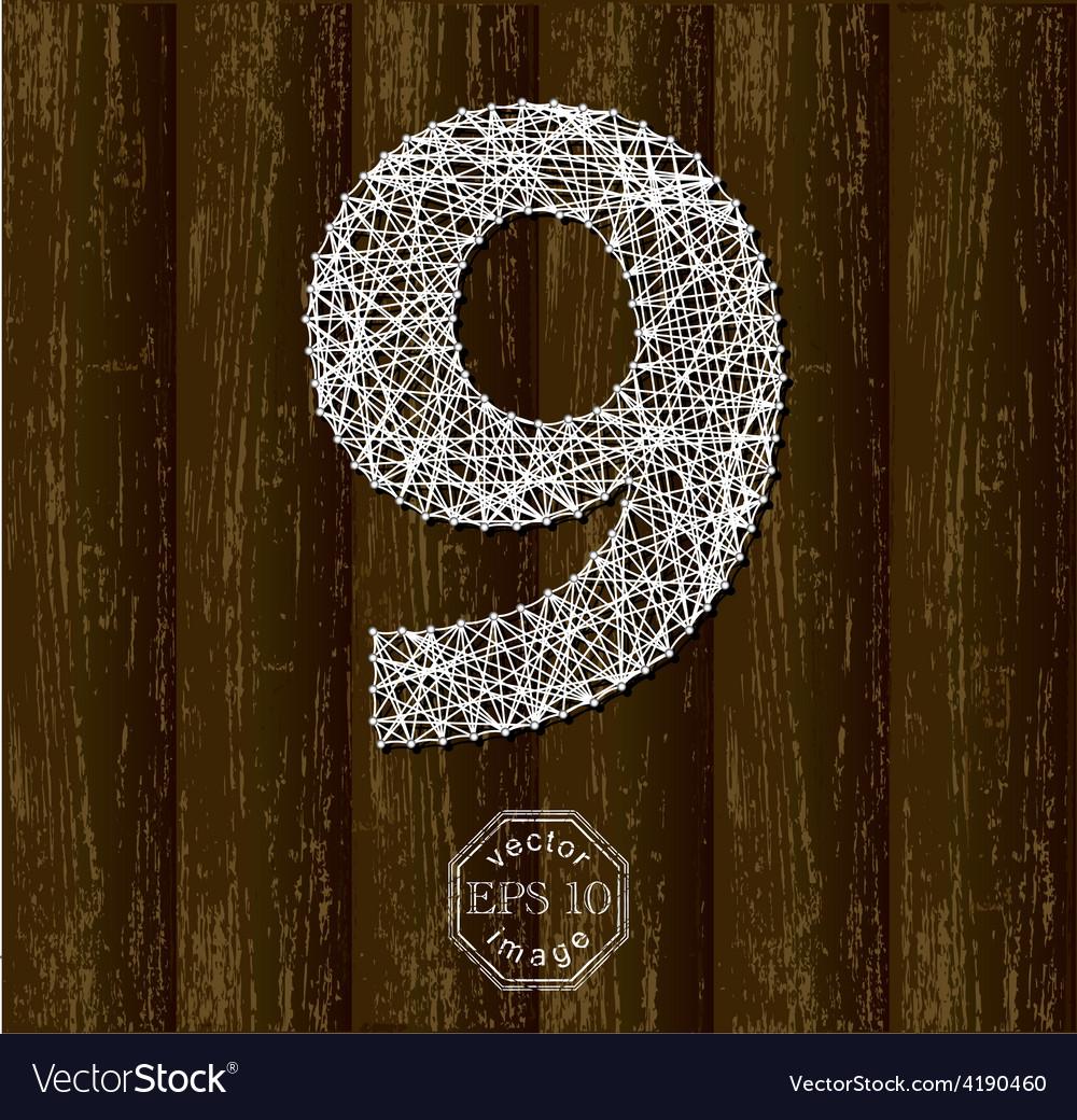 Number nine vector   Price: 1 Credit (USD $1)