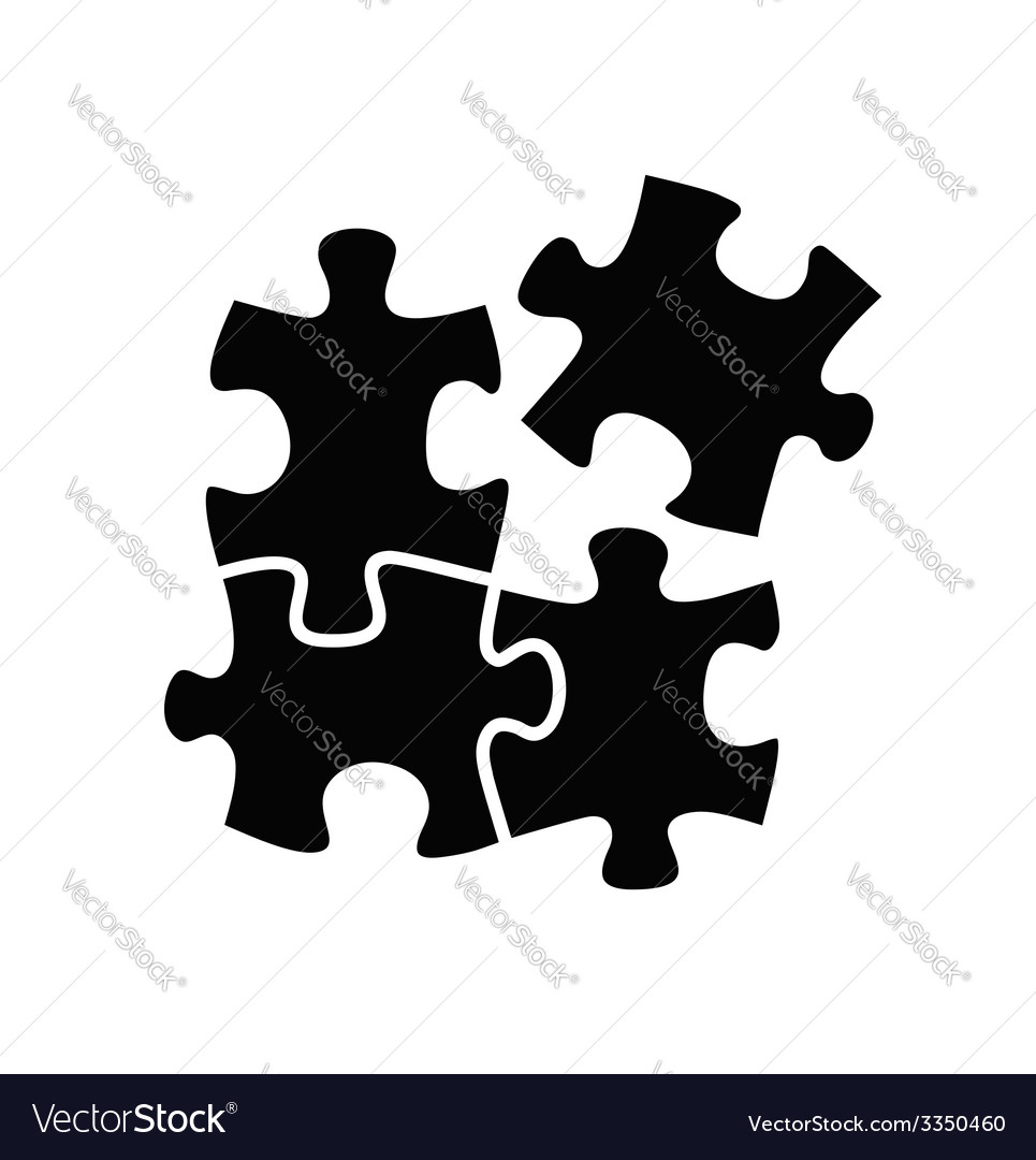 Puzzles icon vector | Price: 1 Credit (USD $1)