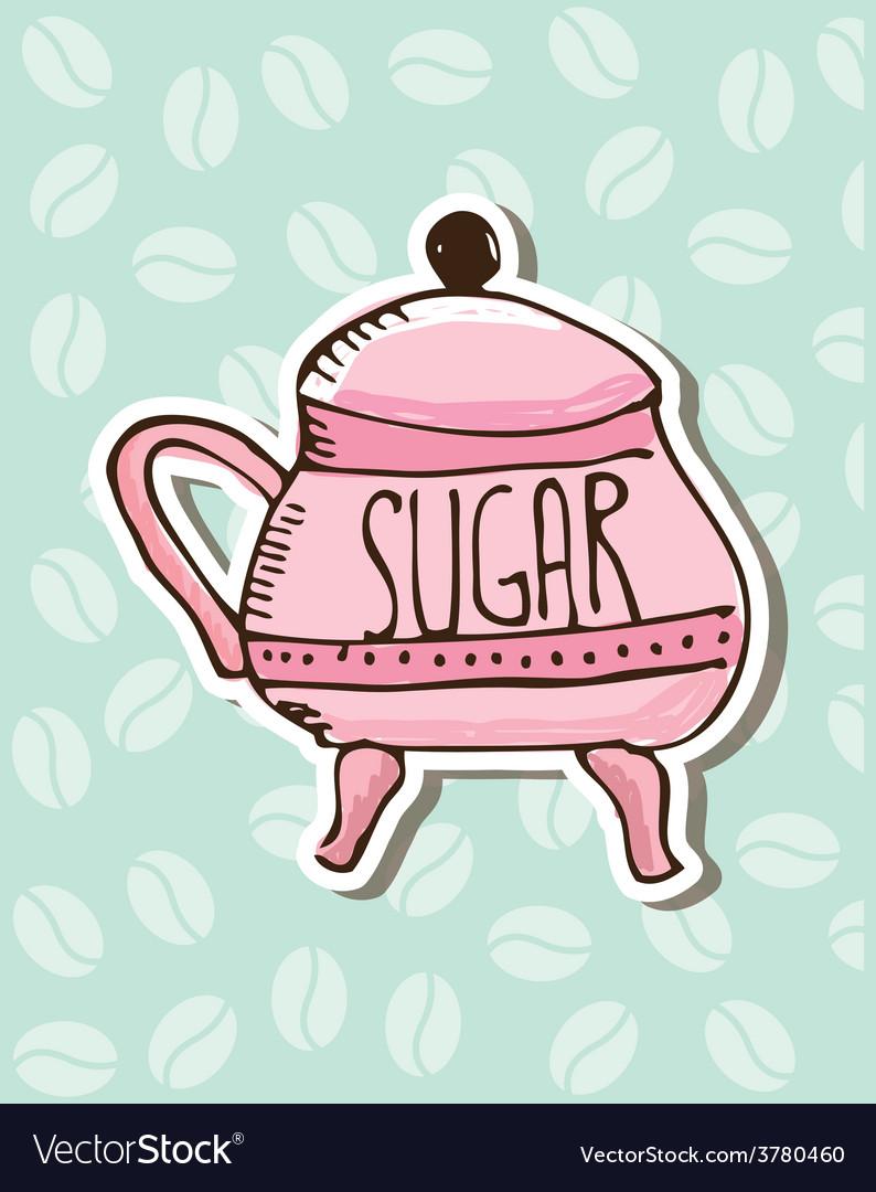 Sugar porcelain design vector | Price: 1 Credit (USD $1)