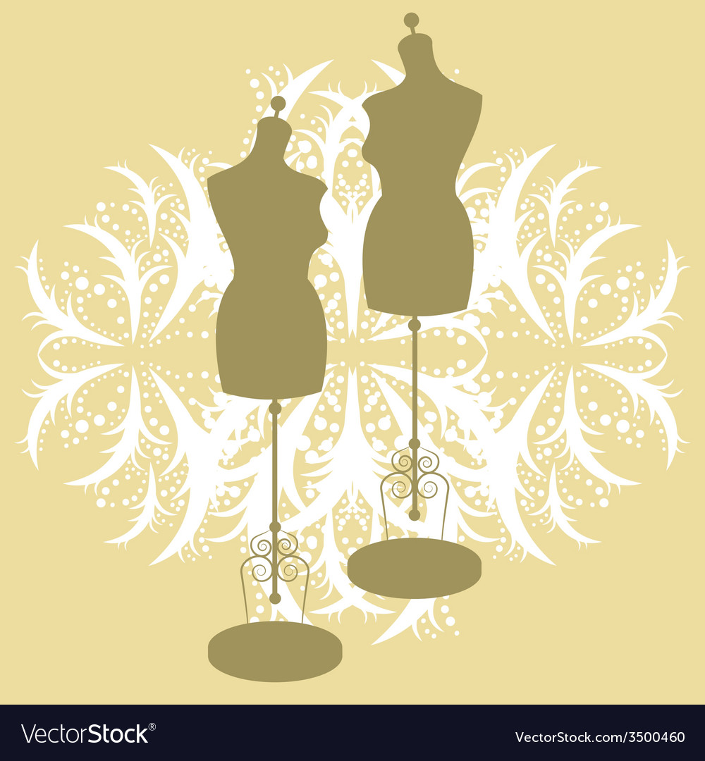 Vintage tailors mannequin vector | Price: 1 Credit (USD $1)