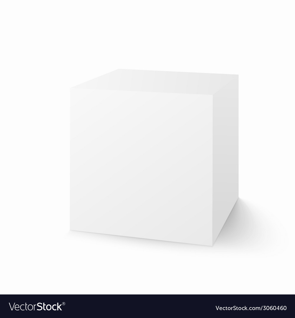 White box isolated on white background vector | Price: 1 Credit (USD $1)