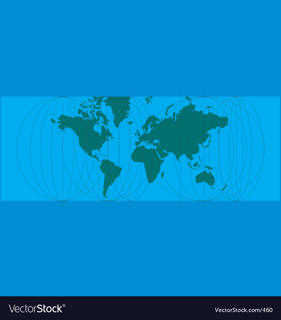 World map lines vector | Price: 1 Credit (USD $1)
