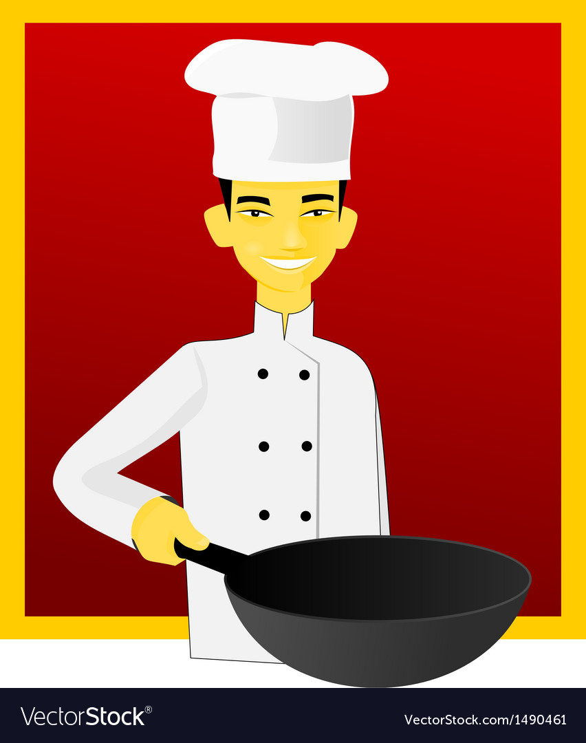Asian cook vector | Price: 1 Credit (USD $1)