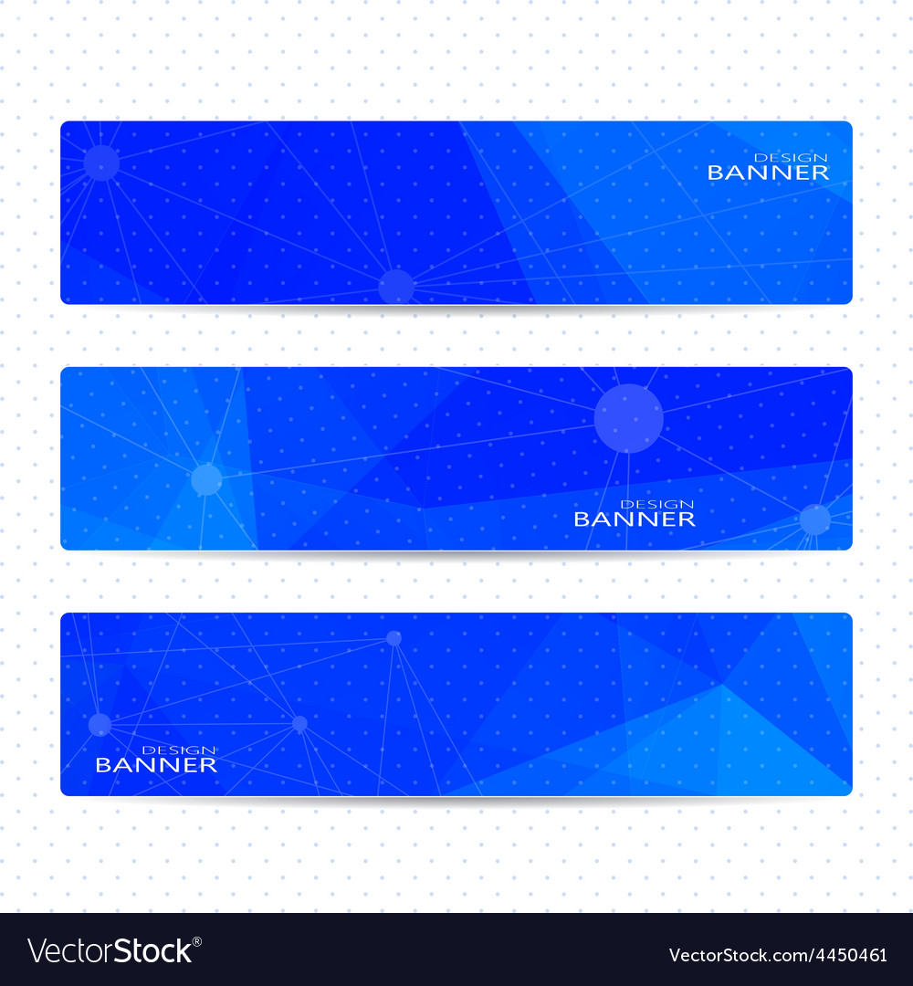 Collection horizontal banners on blue background vector | Price: 1 Credit (USD $1)