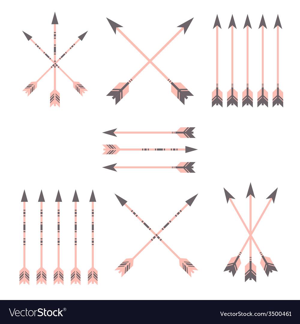 Colorful arrow clip art set vector | Price: 1 Credit (USD $1)