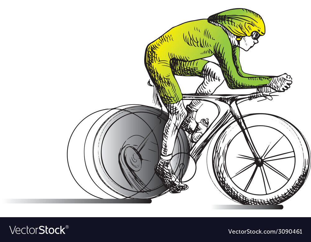 Cycling - cyclist vector | Price: 1 Credit (USD $1)