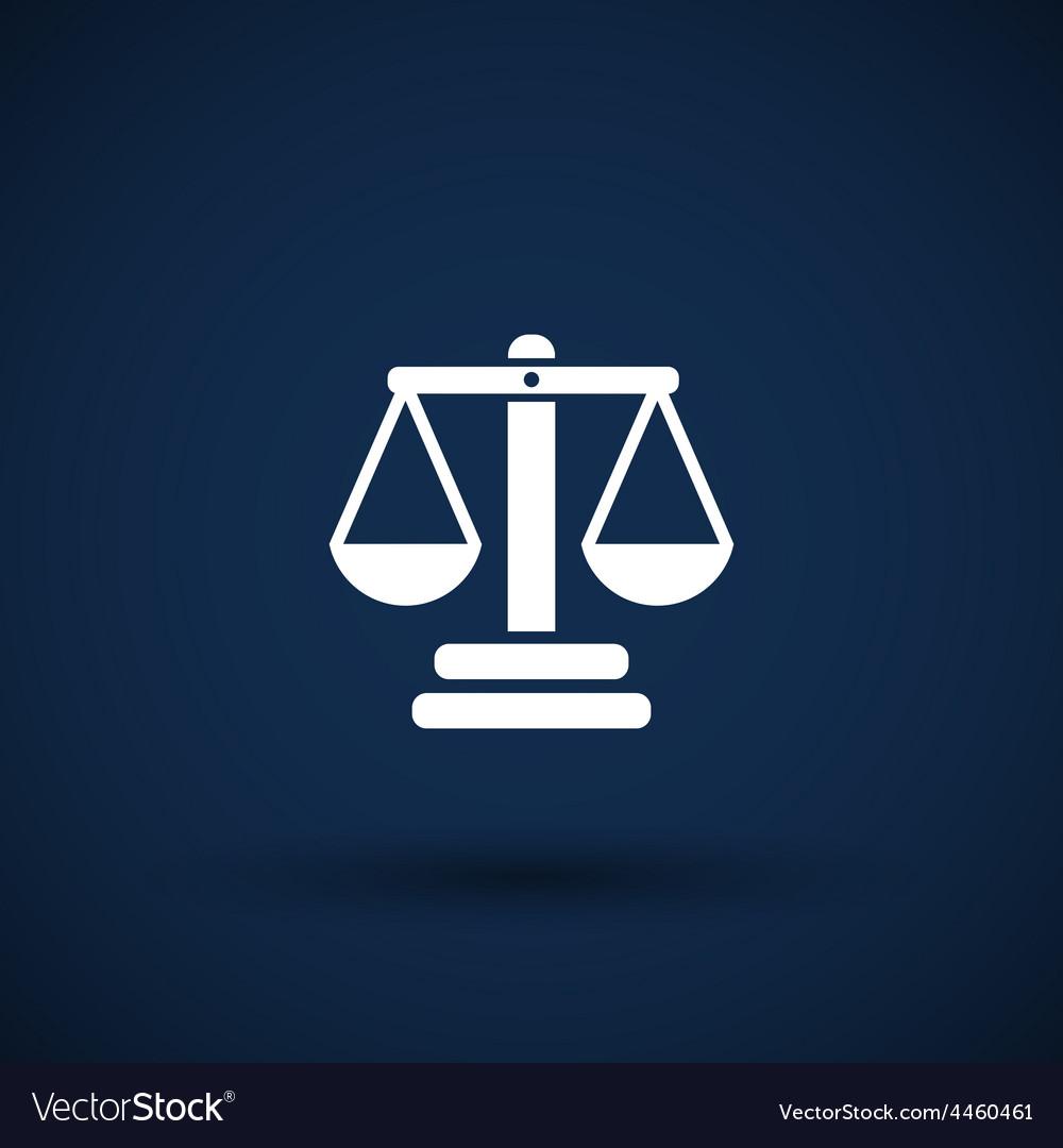Justice icon symbol measurement balance vector | Price: 1 Credit (USD $1)