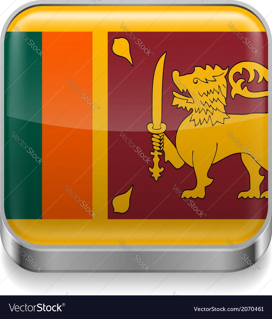 Metal icon of sri lanka vector | Price: 1 Credit (USD $1)