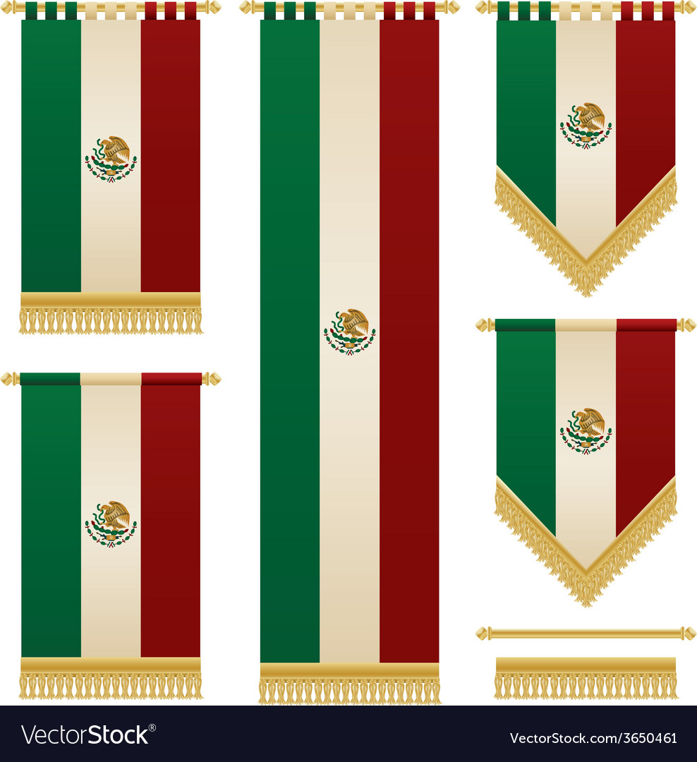 Mexican banners vector | Price: 1 Credit (USD $1)