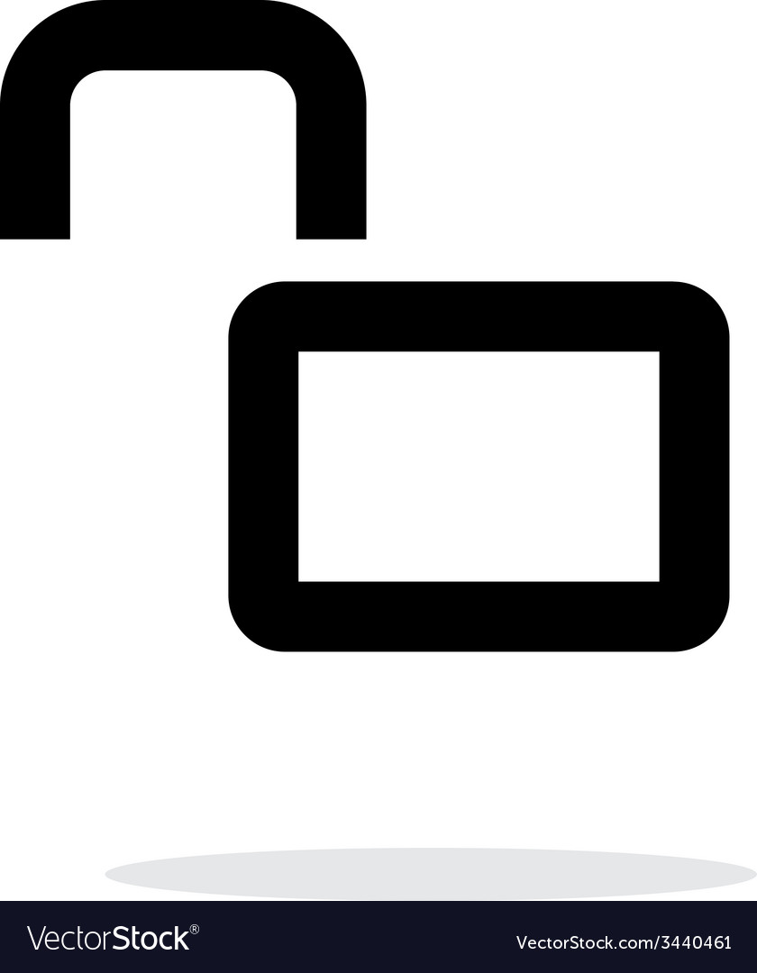 Open padlock icon on white background vector | Price: 1 Credit (USD $1)