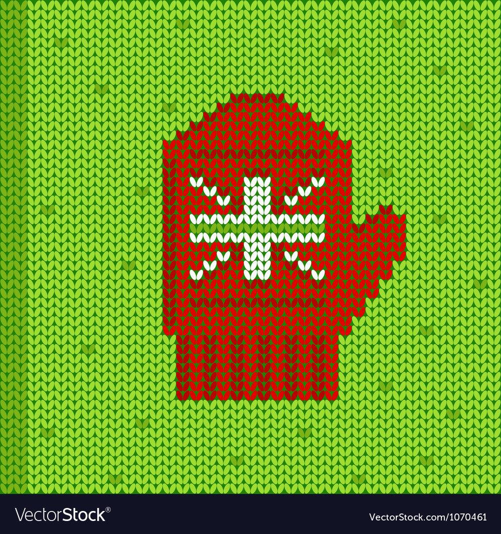 Red mitten vector | Price: 1 Credit (USD $1)
