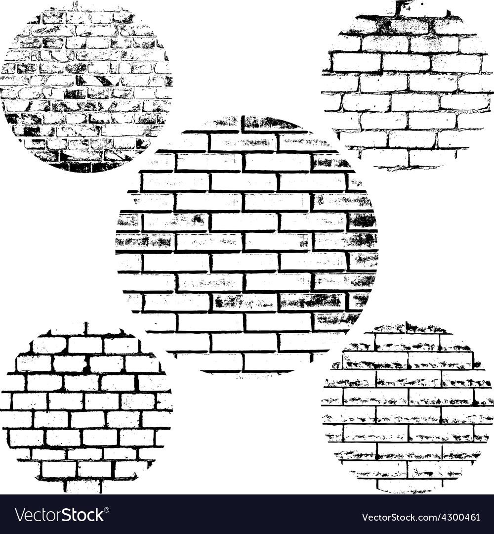 Set brick wall vector | Price: 1 Credit (USD $1)