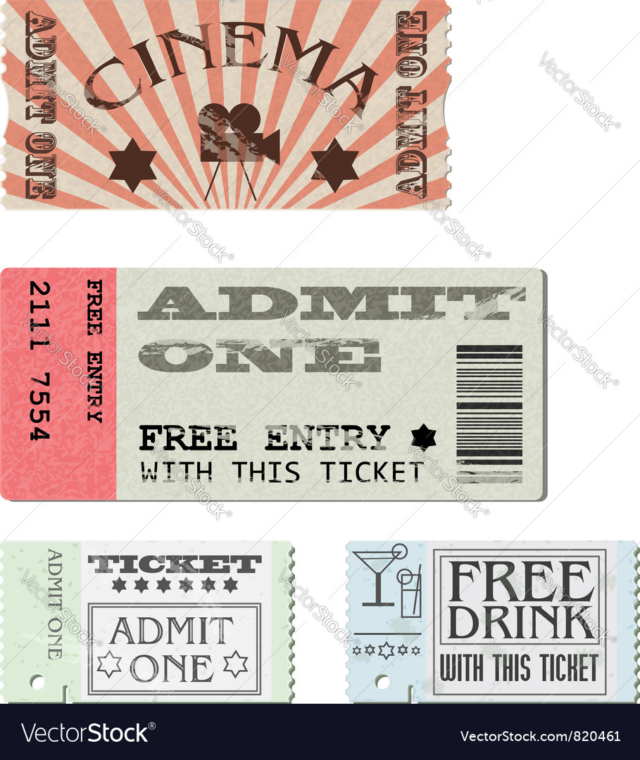 Set tickets vector | Price: 3 Credit (USD $3)