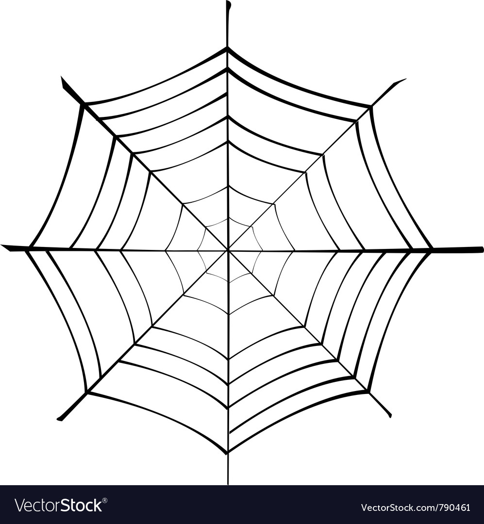 Spiderweb silhouette vector | Price: 1 Credit (USD $1)