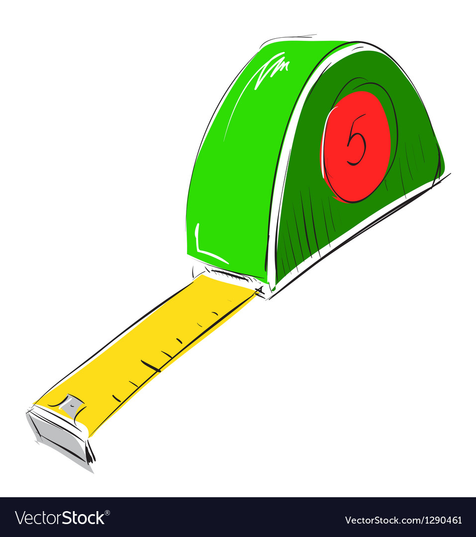Tape measure meter icon vector | Price: 1 Credit (USD $1)