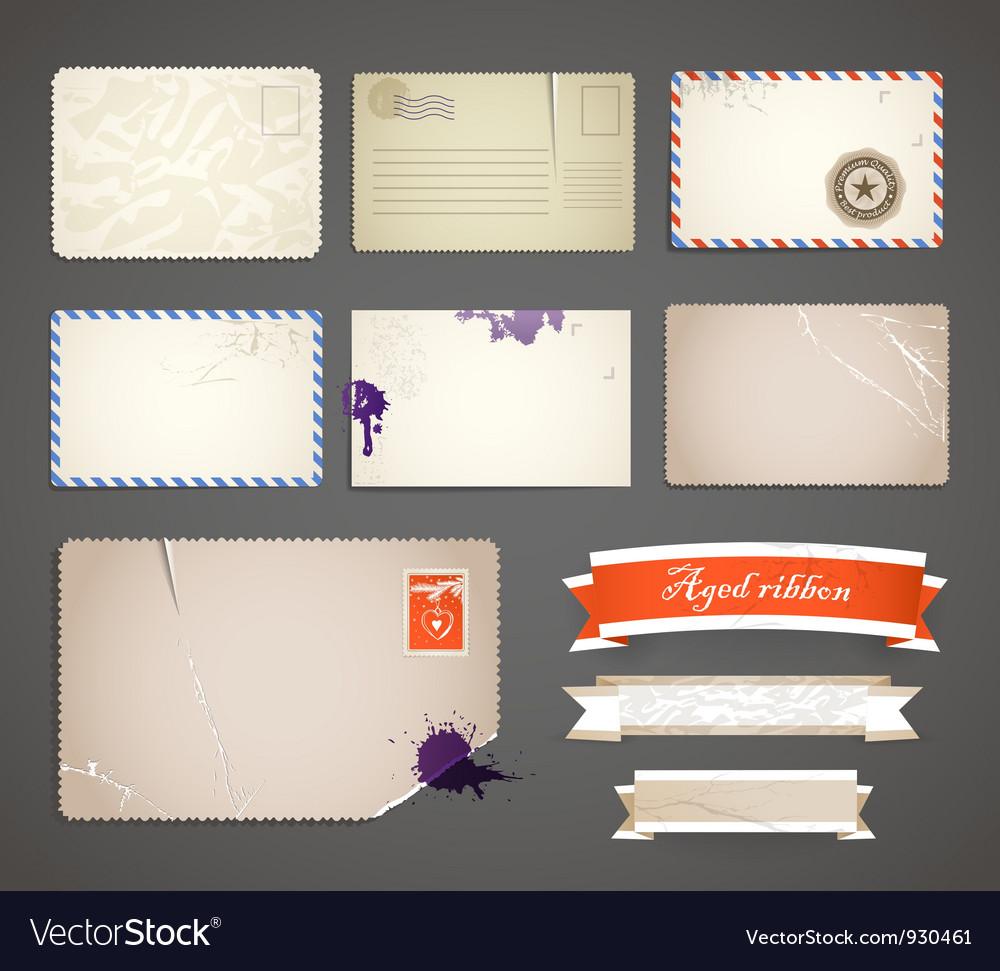 Vintage postcard templates vector | Price: 1 Credit (USD $1)