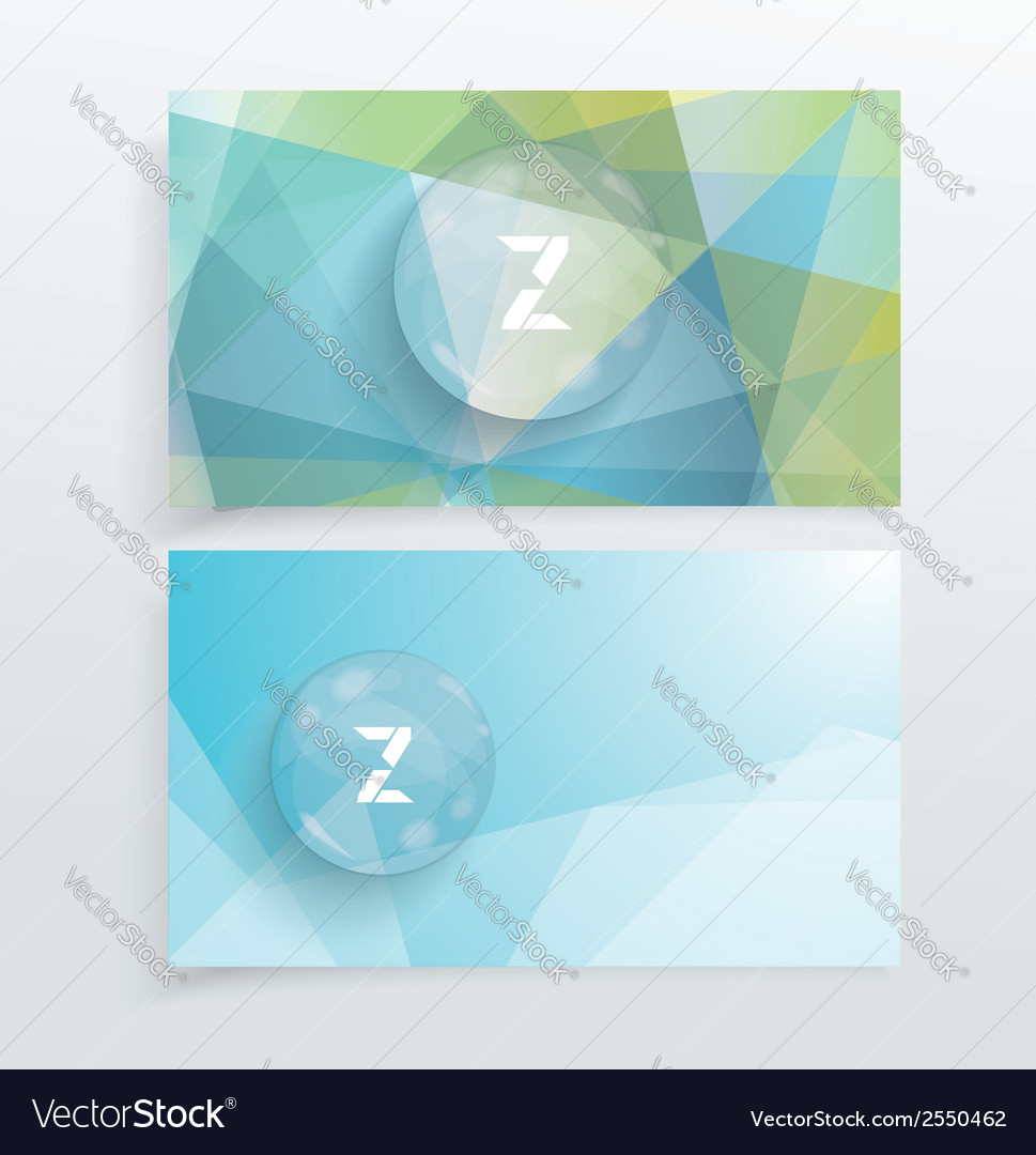 Abstract creative business cards vector | Price: 1 Credit (USD $1)