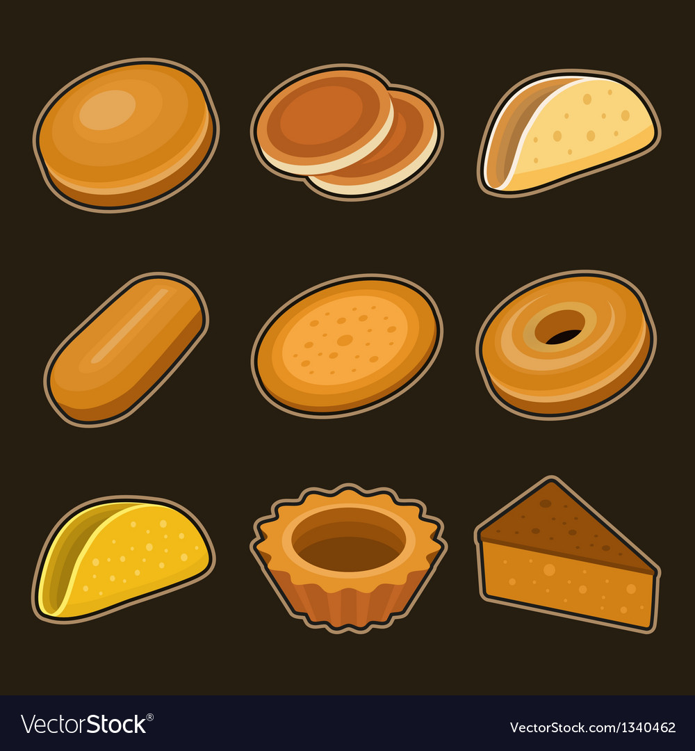 Baking icon set vector | Price: 3 Credit (USD $3)