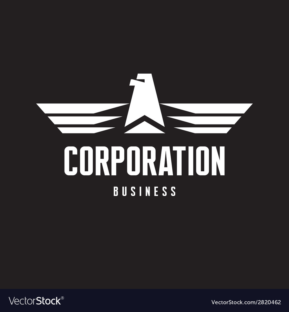 Corporation - eagle logo sign in classic style vector | Price: 1 Credit (USD $1)