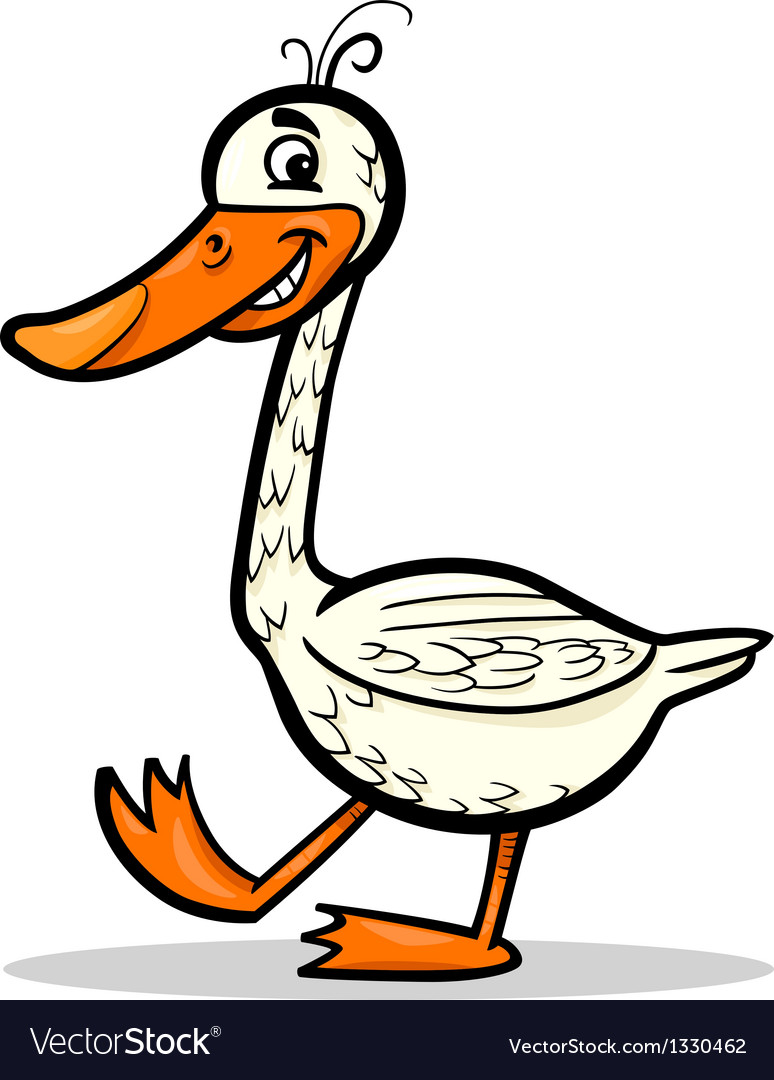 Goose farm bird cartoon vector | Price: 1 Credit (USD $1)