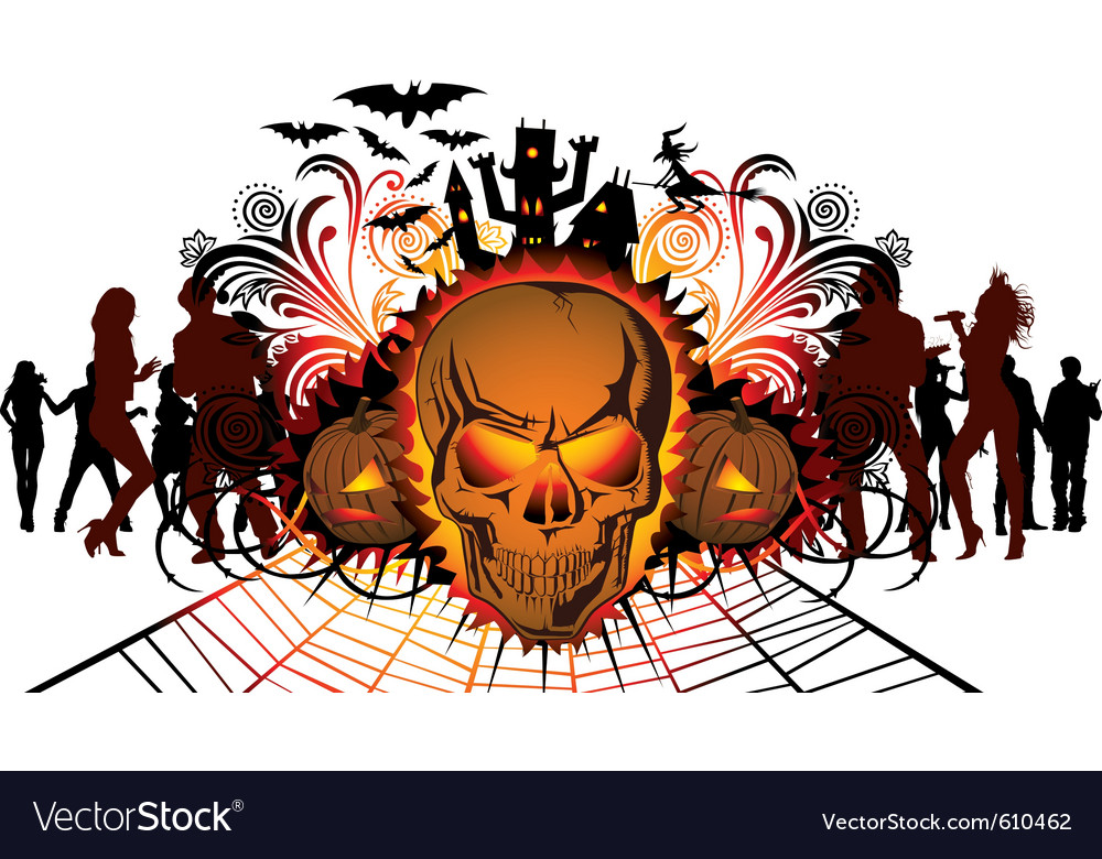 Halloween skull vector | Price: 1 Credit (USD $1)