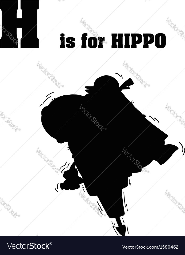 Hippo with jackhammer silhouette vector   Price: 1 Credit (USD $1)