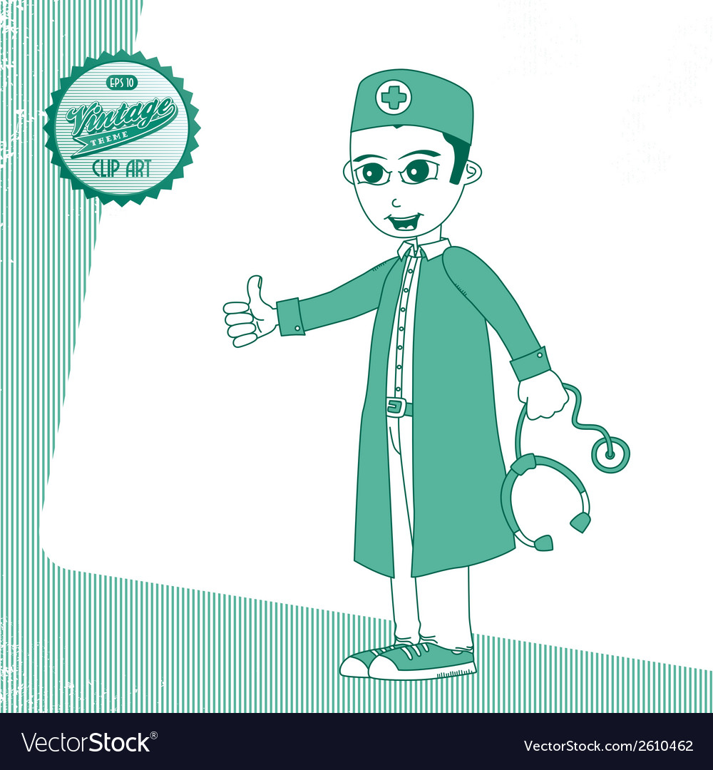 Hipster doctor vector   Price: 1 Credit (USD $1)