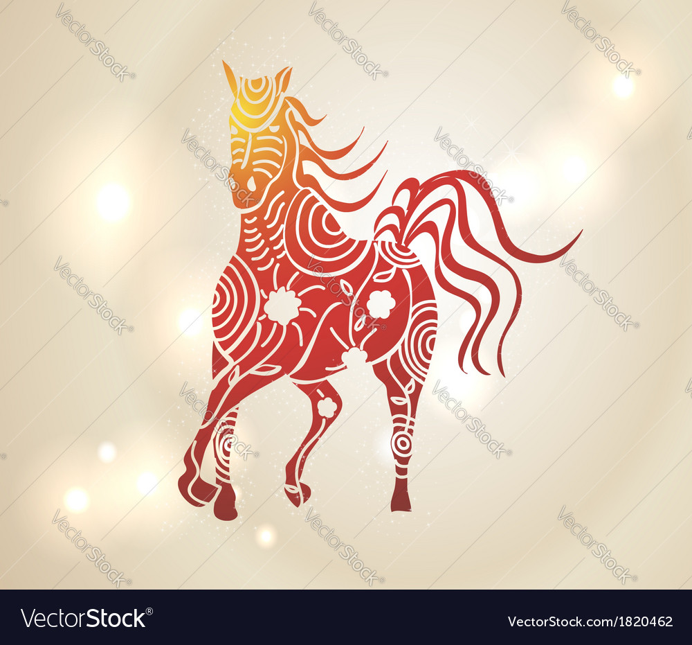 Multicolor chinese new year of horse 2014 vector | Price: 1 Credit (USD $1)