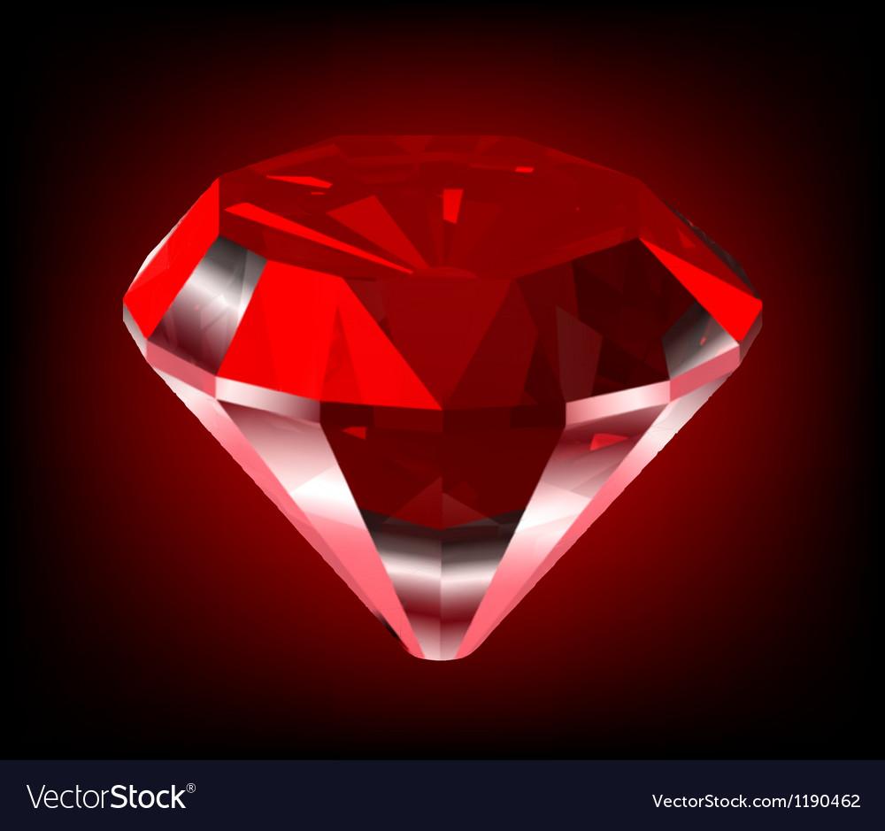 Shiny red diamond vector   Price: 1 Credit (USD $1)