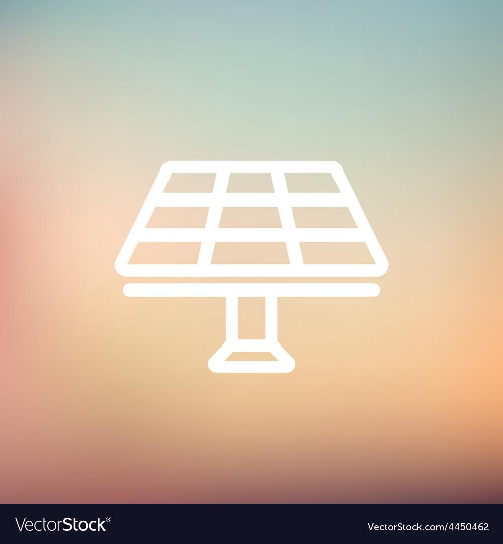 Solar panel thin line icon vector | Price: 1 Credit (USD $1)