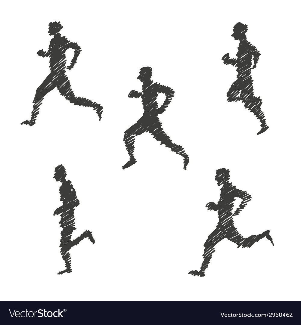 Sport man abstract isolated vector | Price: 1 Credit (USD $1)